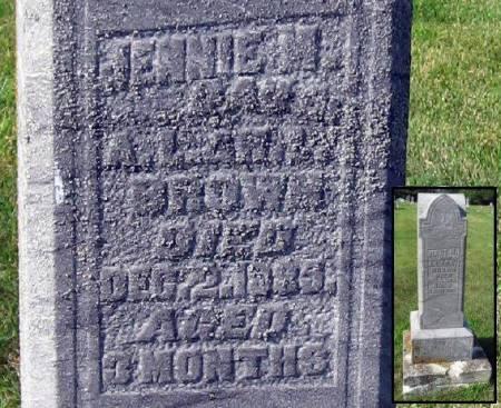 BROWN, JENNIE M. - Mitchell County, Iowa   JENNIE M. BROWN