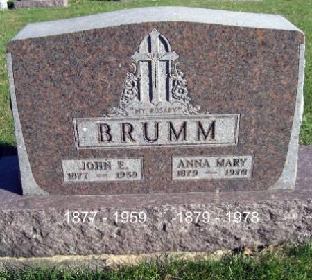BRUMM, JOHN E. - Mitchell County, Iowa | JOHN E. BRUMM