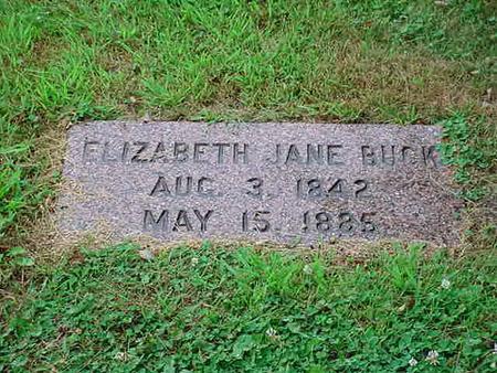 BUSH BUCK, ELIZABETH JANE - Mitchell County, Iowa | ELIZABETH JANE BUSH BUCK