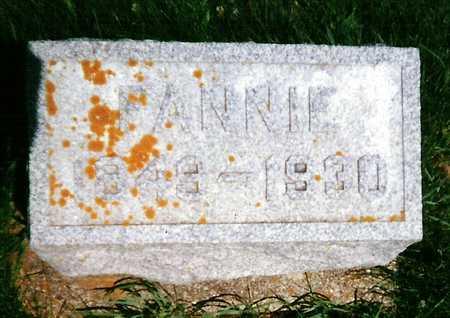 BURTCH, FANNIE - Mitchell County, Iowa | FANNIE BURTCH