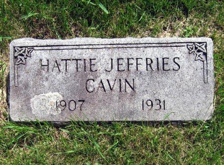 JEFFRIES CAVIN, HATTIE - Mitchell County, Iowa | HATTIE JEFFRIES CAVIN