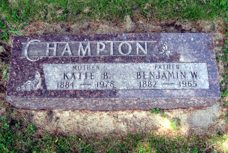 CHAMPION, BENJAMIN W. - Mitchell County, Iowa   BENJAMIN W. CHAMPION