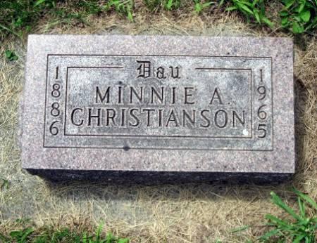 CHRISTIANSON, MINNIE A. - Mitchell County, Iowa   MINNIE A. CHRISTIANSON
