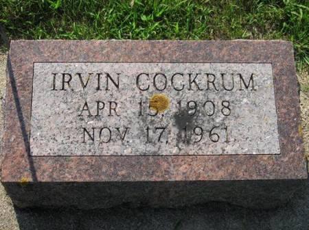 COCKRUM, IRVIN - Mitchell County, Iowa | IRVIN COCKRUM