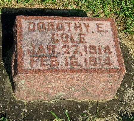 COLE, DOROTHY E. - Mitchell County, Iowa   DOROTHY E. COLE