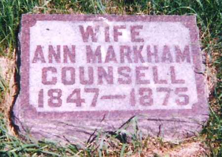 COUNSELL, ANN - Mitchell County, Iowa   ANN COUNSELL