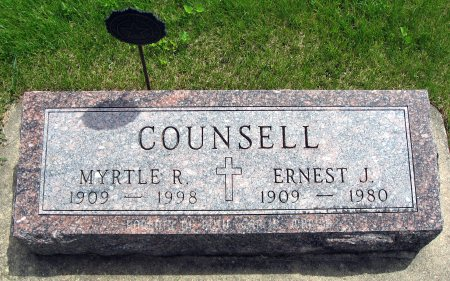 COUNSELL, MYRTLE R. - Mitchell County, Iowa | MYRTLE R. COUNSELL