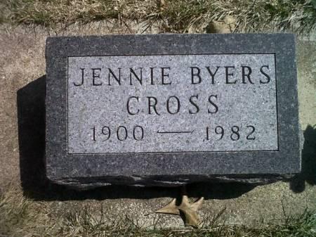 BYERS CROSS, JENNIE - Mitchell County, Iowa   JENNIE BYERS CROSS