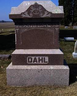 DAHL, SERIANNA (LARGE STONE) - Mitchell County, Iowa | SERIANNA (LARGE STONE) DAHL