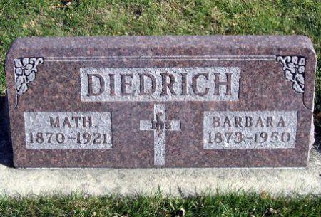 DIEDRICH, BARBARA - Mitchell County, Iowa   BARBARA DIEDRICH