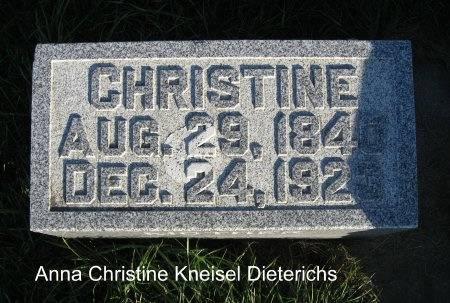 DIETERICHS, CHRISTINE - Mitchell County, Iowa | CHRISTINE DIETERICHS