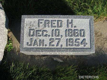 DIETERICHS, FRED H. - Mitchell County, Iowa | FRED H. DIETERICHS