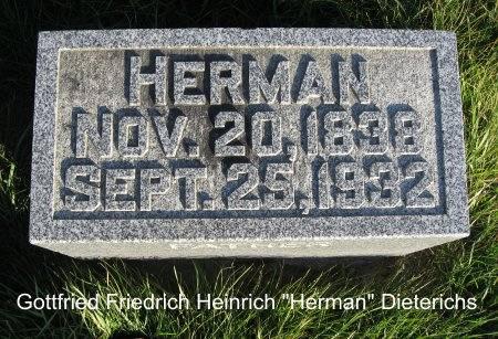 DIETERICHS, HERMAN - Mitchell County, Iowa | HERMAN DIETERICHS