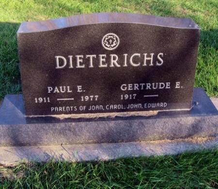 DIETERICHS, GERTRUDE EMILY - Mitchell County, Iowa | GERTRUDE EMILY DIETERICHS