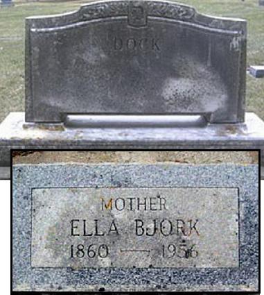 BJORK DOCK, ELLA - Mitchell County, Iowa | ELLA BJORK DOCK