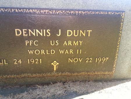 DUNT, DENNIS J. (MILITARY) - Mitchell County, Iowa   DENNIS J. (MILITARY) DUNT