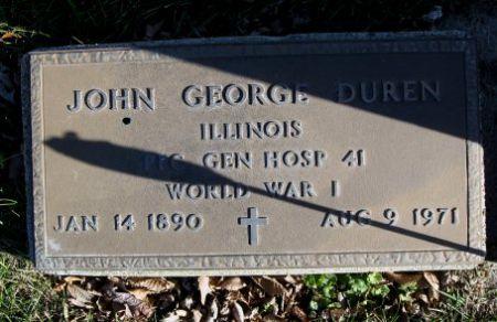DUREN, JOHN GEORGE (MIL.) - Mitchell County, Iowa   JOHN GEORGE (MIL.) DUREN