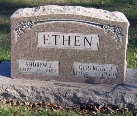 ETHEN, GERTRUDE J. - Mitchell County, Iowa   GERTRUDE J. ETHEN