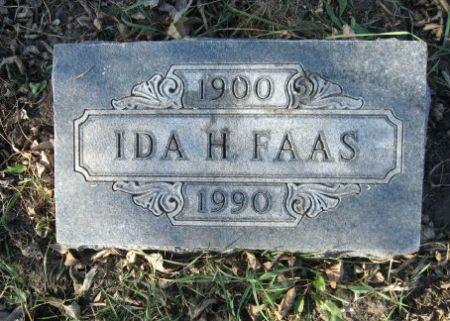 FAAS, IDA H. - Mitchell County, Iowa   IDA H. FAAS