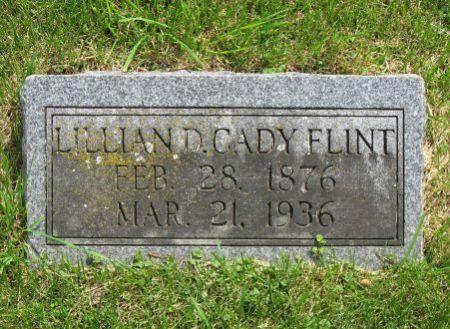 CADY FLINT, LILLIAN D. - Mitchell County, Iowa | LILLIAN D. CADY FLINT