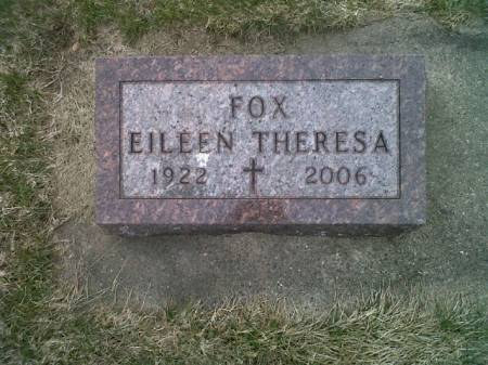 FOX, EILEEN THERESA - Mitchell County, Iowa | EILEEN THERESA FOX