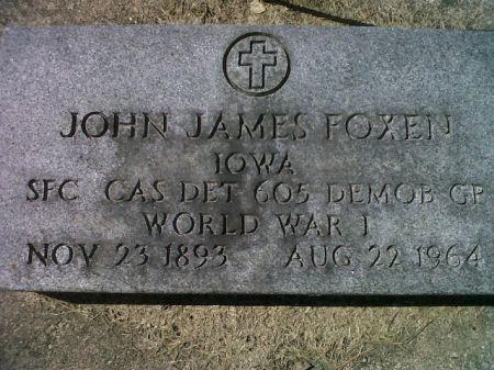 FOXEN, JOHN JAMES (MIL) - Mitchell County, Iowa   JOHN JAMES (MIL) FOXEN
