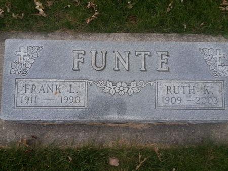 FUNTE, RUTH K. - Mitchell County, Iowa | RUTH K. FUNTE