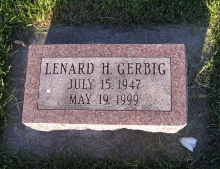 GERBIG, LENARD H. - Mitchell County, Iowa   LENARD H. GERBIG