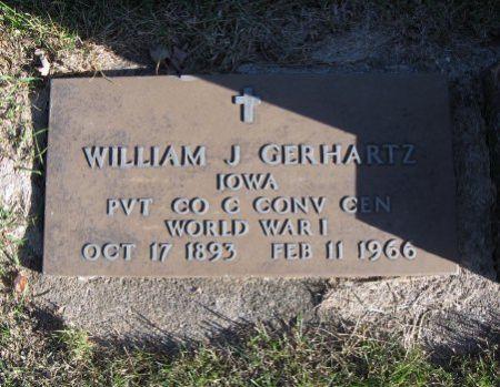 GERHARTZ, WILLIAM J. (MIL.) - Mitchell County, Iowa   WILLIAM J. (MIL.) GERHARTZ