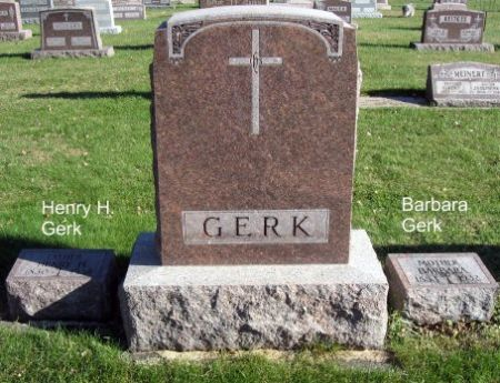 GERK, HENRY H. (LOT) - Mitchell County, Iowa   HENRY H. (LOT) GERK