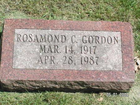 GORDON, ROSAMOND C. - Mitchell County, Iowa | ROSAMOND C. GORDON