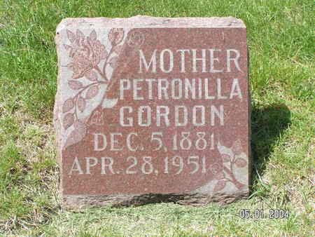 GORDON, PETRONILLA - Mitchell County, Iowa   PETRONILLA GORDON