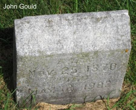 GOULD, JOHN - Mitchell County, Iowa   JOHN GOULD
