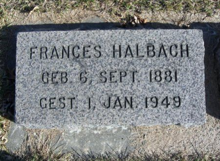 HALBACH, FRANCES - Mitchell County, Iowa | FRANCES HALBACH