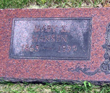 HANSEN, MARY K. - Mitchell County, Iowa | MARY K. HANSEN