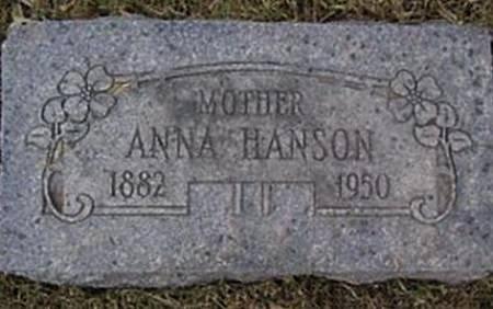 NESSET HANSON, ANNA - Mitchell County, Iowa   ANNA NESSET HANSON