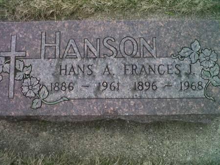 HANSON, HANS A. - Mitchell County, Iowa | HANS A. HANSON
