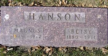 HANSON, MAGNUS - Mitchell County, Iowa | MAGNUS HANSON