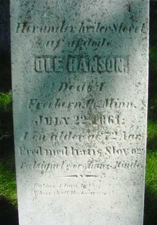 HANSON, OLE - Mitchell County, Iowa | OLE HANSON