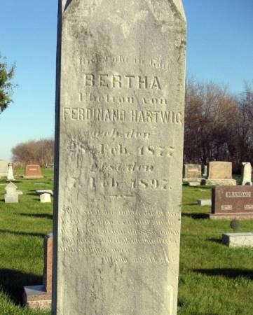 HARTWIG, BERTHA - Mitchell County, Iowa | BERTHA HARTWIG