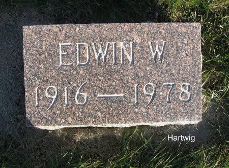 HARTWIG, EDWIN W. - Mitchell County, Iowa   EDWIN W. HARTWIG