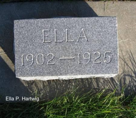 HARTWIG, ELLA P. - Mitchell County, Iowa   ELLA P. HARTWIG
