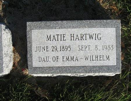 HARTWIG, MATIE - Mitchell County, Iowa | MATIE HARTWIG