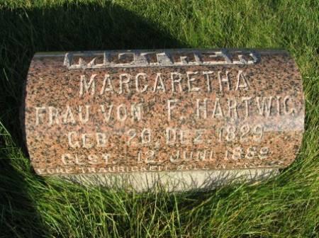 HARTWIG, MARGARETHA - Mitchell County, Iowa   MARGARETHA HARTWIG