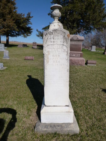 HARTWIG, REINHARD CARL CHRISTIAN - Mitchell County, Iowa | REINHARD CARL CHRISTIAN HARTWIG
