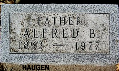 HAUGEN, ALFRED BENJAMIN - Mitchell County, Iowa | ALFRED BENJAMIN HAUGEN