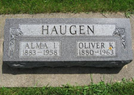 HAUGEN, OLIVER K. - Mitchell County, Iowa | OLIVER K. HAUGEN