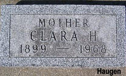 SANDVIG HAUGEN, CLARA H. - Mitchell County, Iowa | CLARA H. SANDVIG HAUGEN