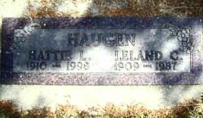 HANSON HAUGEN, HATTIE LOUISE - Mitchell County, Iowa   HATTIE LOUISE HANSON HAUGEN