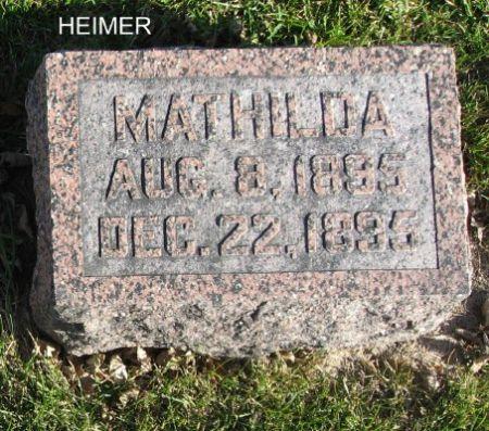HEIMER, MATHILDA - Mitchell County, Iowa | MATHILDA HEIMER